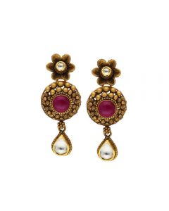 135VG4032 | Vaibhav Jewellers Antique Gold Hanging Earrings 135VG4032