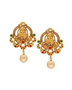 135VG4106 | Vaibhav Jewellers 22K Antique Gold Lakshmi Hangings 135VG4106