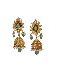 153VG121 | Vaibhav Jewellers 18K Jadavu Jhumka Earrings 153VG121