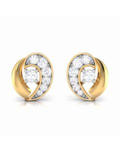 155DH2931 | Vaibhav Jewellers 18K  Diamond Stud Earrings 155DH2931