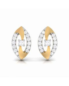 155DH2937 | Vaibhav Jewellers 18K  Diamond Stud Earrings 155DH2937