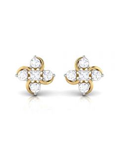 155DH2950 | Vaibhav Jewellers 18K  Diamond Stud Earrings 155DH2950