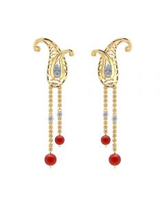 155DH2960 | Vaibhav Jewellers 18K Diamond Hangings Earrings 155DH2960