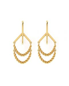155DH3009 | Vaibhav Jewellers 14K Yellow Gold Hoop Earrings 155DH3009