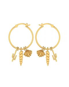 155DH3017 | Vaibhav Jewellers 14K Yellow Gold Hoop Earrings 155DH3017