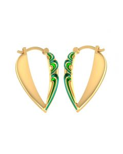 155DH3020 | Vaibhav Jewellers 14K Yellow Gold Hoop Earrings 155DH3020