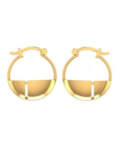 155DH3022 | Vaibhav Jewellers 14K Yellow Gold Hoop Earrings 155DH3022