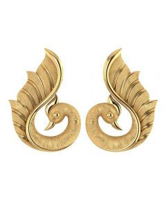155DH3050 | Vaibhav Jewellers 18K Gold Peacock Studs 155DH3050