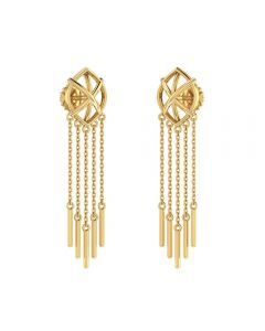 155DH3085 | Dainty Dream-catcher Gold Danglers 155DH3085