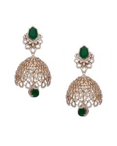155VH3022 | Vaibhav Jewellers 18K Diamond Hanging Earrings 155VH3022