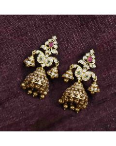 158VG948 | Vaibhav Jewellers 22K Diamond Jhumkies 158VG948