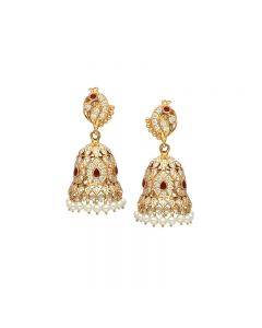 158VG973 | 22 KT Diamond Studded Jhumkas 158VG973
