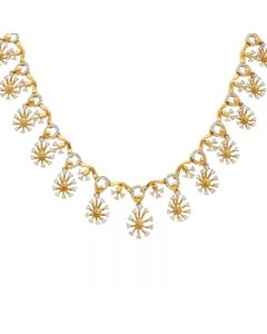 159MP2454 | 18KT Diamond Studded Gold Fancy Necklace 159MP2454