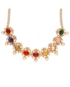 159VG2023 | 18K Diamond Navaratna Necklace  159VG2023
