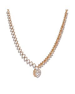159VG2422 | Glittering Petal Diamond Necklace