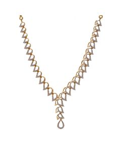 159VG2425 | String of Droplets Diamond Necklace