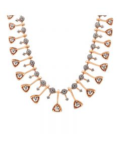 159VG3440 | 18 KT Diamond Studded gold fancy necklace 159VG3440