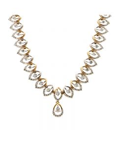 159VG3663 | 18 KT Diamond Studded gold fancy necklace 159VG3663