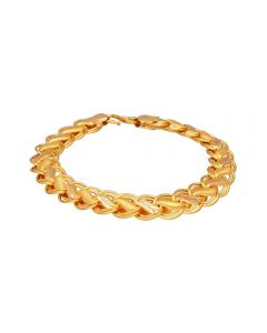 65VH3424 | 22K Plain Gold Gents Bracelet 65VH3424