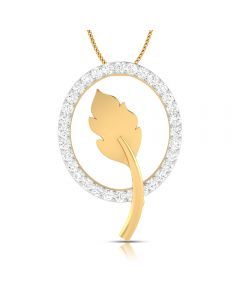 166DG5118 | Vaibhav Jewellers 18K Single Hook Diamond Pendant 166DG5118