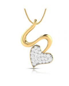 166DG5122 | Vaibhav Jewellers 18K Single Hook Love Diamond Pendant 166DG5122