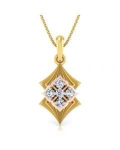 166DG5140 | Vaibhav Jewellers 18K Diamond Fancy Single Hook Pendant 166DG5140