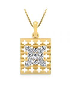 166DG5143 | Vaibhav Jewellers 18K Diamond Fancy Single Hook Pendant 166DG5143