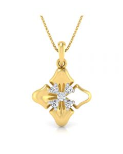 166DG5147 | Vaibhav Jewellers 18K Diamond Fancy Single Hook Pendant 166DG5147