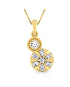 166DG5156 | Vaibhav Jewellers 18K Diamond Fancy Single Hook Pendant 166DG5156