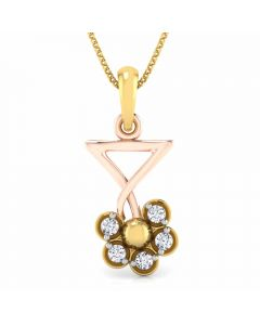 166DG5158 | Vaibhav Jewellers 18K Diamond Fancy Single Hook Pendant 166DG5158