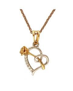 166VG4008 | 18K Diamond Fabcy Single Hook Pendant  166VG4008