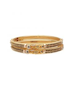 16VI8884 | 22k Plain Gold Fancy Bangles 16VI8884
