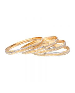 18VH1675 | 22K Two Tone Gold Bangle Set