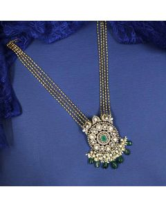 203VG1568 | Vaibhav Jewellers 22k Pachi Antique Necklace 203VG1568