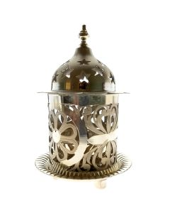344VB4803 | Single Silver Diya with Glass protector 344VB4803