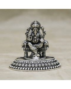 351VA2838 | Vaibhav Jewellers Antique Silver Lord Ganesh Idol 351VA2838