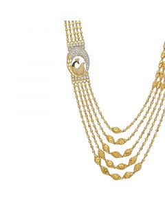 3VH491 | 22k Gold 5 Step Ball Chain Necklace 3VH491