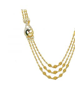 3VH492 | 22k Gold 3 Step Ball Chain Necklace3VH492