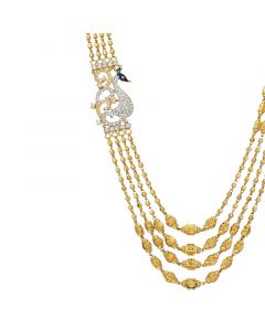 3VH525 | 22k Plain 4 Step Ball Chain Necklace3VH525