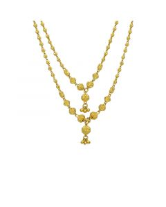 3VH553 | 22k Plain 2 Step Ball Chain Necklace 3VH553