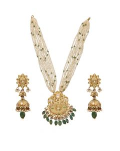 451VG1379 | 22Kt Polki Necklace Set  451VG1379