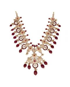 451VG1417 | Vaibhav Jewellers 22K Gold Polki Necklace  451VG1417