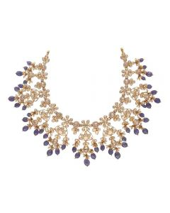 451VG1420 | Vaibhav Jewellers 22K Gold Polki Necklace 451VG1420