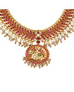 451VG1533 | Vaibhav Jewellers Ruby Emerald Necklace 451VG1533