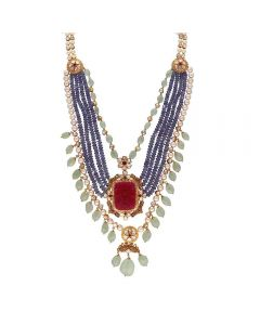 451VG1546 | Vaibhav Jewellers 22K Gold Polki Necklace 451VG1546