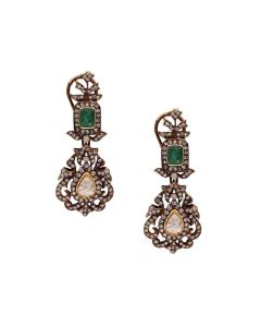 465VG214 | Vaibhav Jewellers 18K Gold Pachi Hanging Earrings 465VG214