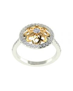 483VA302 | Vaibhav Jewellers 14K Gold Silver Diamond Ring 483VA302