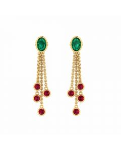 485DA390 | Vaibhav Jewellers 14k Fancy Gold Earrings 485DA390