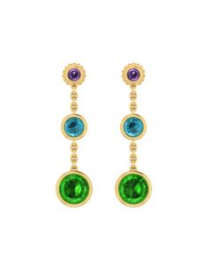 485DA392 | Vaibhav Jewellers 14k Fancy Gold Earrings 485DA392