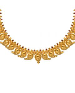 4VG1291 | Vaibhav Jewellers 22K Plain Gold High Polish Necklace 4VG1291